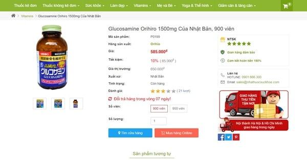 Review: Glucosamine Orihiro Có Tốt Như Quảng Cáo Không? Cách Dùng, Giá Bán?
